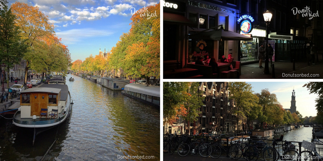 Viaggio Amsterdam donuts on bed travel blog