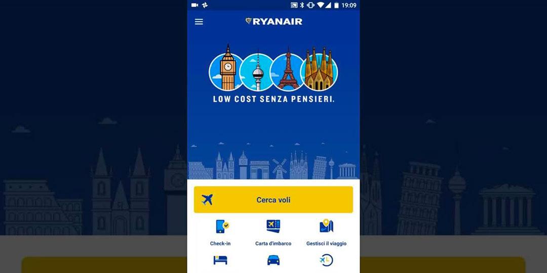 come scaricare app ryanair